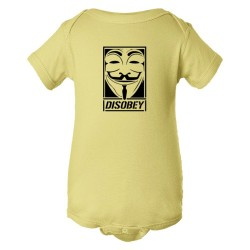 Baby Bodysuit Disobey - Obey Opposite Graffiti Style