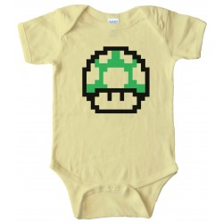 Baby Bodysuit - Mario Brothers One Up Mushroom -