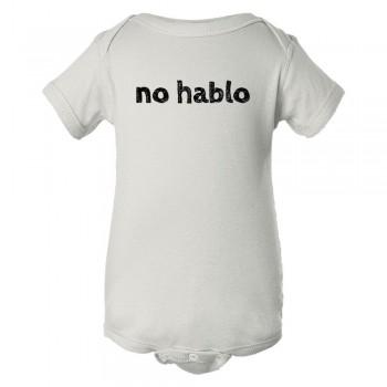 Baby Bodysuit No Hablo I Don'T Speak Spanish