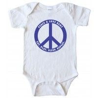 Baby Bodysuit - Peace And Love Baby - Eat. Play. Sleep. Repeat.
