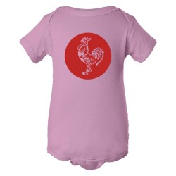 Baby Bodysuit Sriracha Rooster Emblem Logo