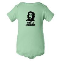 Baby Bodysuit Viva La Evolucion Che Guevara Chimp
