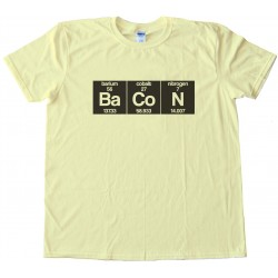 Bacon Periodic Chart Tee Shirt