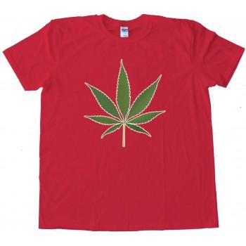 Big Marijuana Leaf Pot Weed Tee Shirt
