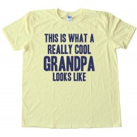 Big Text This Is What A Really Cool Grandpa Looks Like - Tee Shirt