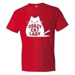 Crazy Cat Lady Fat Cay - Tee Shirt