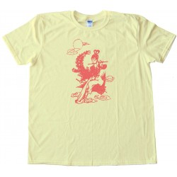 Egg Roll Chinese Flute Girl Retro - Tee Shirt