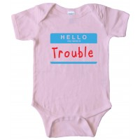 Hello My Name Is Trouble - Baby Bodysuit