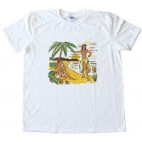 Hula Girl Retro Design Tee Shirt