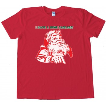 I Have A Huge Package Santa Claus - Tee Shirt