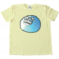 I Lied Blue Rage Comics Face Tee Shirt