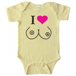 I Love Boobs - Baby Bodysuit