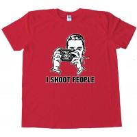 I Shoot People Cameraman Photos Tee Shirt