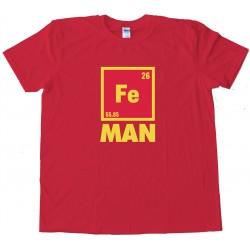 Iron Man Chemical Symbol Tee Shirt