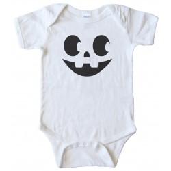 Jack 'O Lantern Face - Halloween - Baby Bodysuit