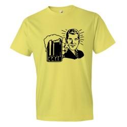 Man Holding A Massive Beer - Tee Shirt