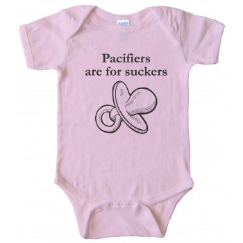 Pacifiers Are For Suckers - Baby Bodysuit