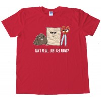 Rock Paper Scissors Can'T We All Get Along? - Tee Shirt