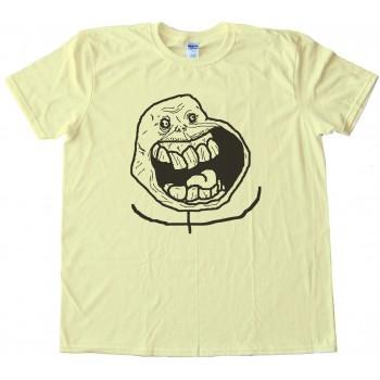 Super Alone Rage Comic Face Tee Shirt