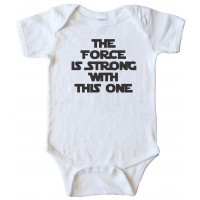 The Force Is Strong With This One - Star Wars - Baby Bodysuit