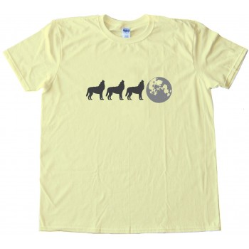 Three Wolf Full Moon Simplified Tee Shirt