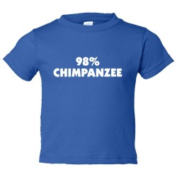 Toddler Sized 98% Chimpanzee Dna Relation And Evolution - Tee Shirt Rabbit Skins