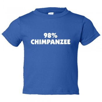 Toddler Sized 98% Chimpanzee Dna Relation And Evolution - Tee Shirt Rabbit Skins