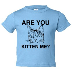 Toddler Sized Are You Kitten Me? Cat Person - Tee Shirt Rabbit Skins