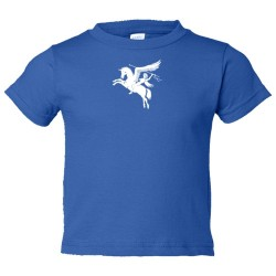 Toddler Sized British Airforce Emblem With Pegasus Flying Horse - Tee Shirt Rabbit Skins