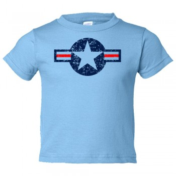 Toddler Sized Classic American Military Star Air Force - Tee Shirt Rabbit Skins