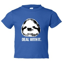 Toddler Sized Deal With It Sloth - Tee Shirt Rabbit Skins