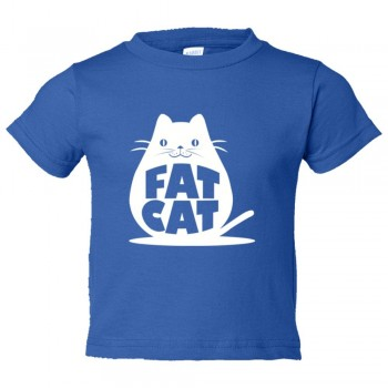 Toddler Sized Fat Cat Feline Roundest - Tee Shirt Rabbit Skins