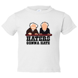 Toddler Sized Haters Gonna Hate Muppet Show Balcony Critics - Tee Shirt Rabbit Skins