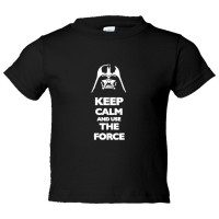 Toddler Sized Keep Calm And Use The Force Darth Vader - Tee Shirt Rabbit Skins