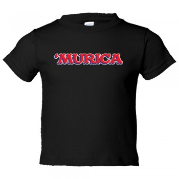Toddler Sized 'Murica American Spirit George Bush Style - Tee Shirt Rabbit Skins