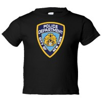 Toddler Sized Nypd New York Police Department Logo - Tee Shirt Rabbit Skins