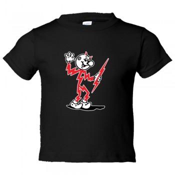 Toddler Sized Retro Electricty Guy Killowatt Man - Tee Shirt Rabbit Skins