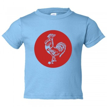 Toddler Sized Sriracha Rooster Emblem Logo - Tee Shirt Rabbit Skins