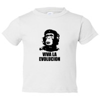Toddler Sized Viva La Evolucion Che Guevara Chimp - Tee Shirt Rabbit Skins