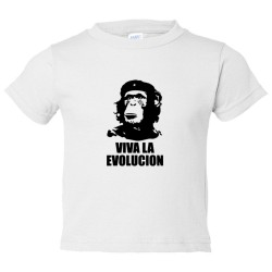 Toddler Sized Viva La Evolucion Che Guevara Chimp - Tee Shirt Rabbit Skins