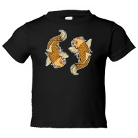 Toddler Sized Yin Yang Koi Fish Oranges - Tee Shirt Rabbit Skins