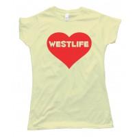 Westlife Heart Tee Shirt