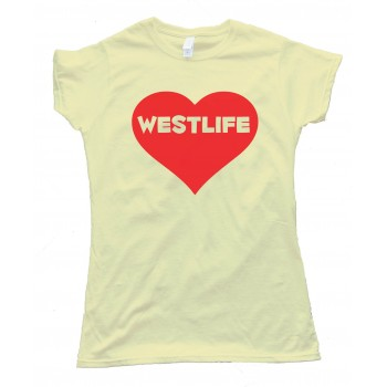 Westlife Heart Tee Shirt