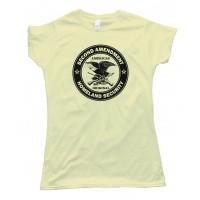 Womens Americas Original Homeland Security The Second Amendment Tee Shirt