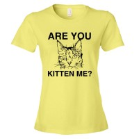 Womens Are You Kitten Me? Cat Person - Tee Shirt