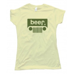 Womens Beer Jeep Logo - Tee Shirt