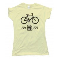 Womens Bicycle Fuel Economy Unlimited Tee Shirt