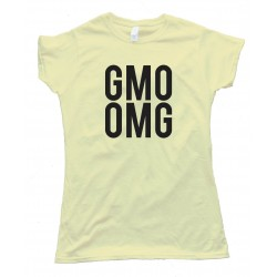 Womens Big Text Gmo Omg - Tee Shirt