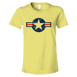 Womens Classic American Military Star Air Force - Tee Shirt