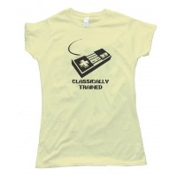 Womens Classically Trained Nintendo Controller Gamer - Tee Shirt